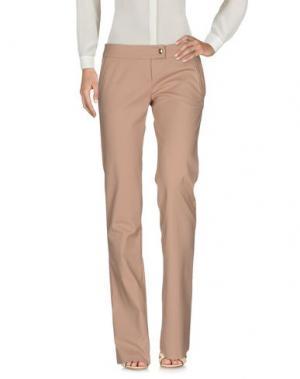 Повседневные брюки BETTY BLUE. Цвет: светло-коричневый