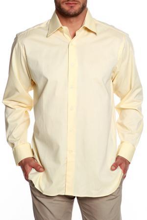 Рубашка Dormeuil. Цвет: желтый