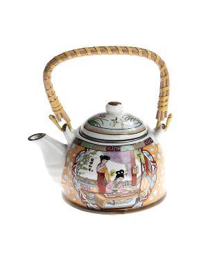 Чайник заварочный с метал. ситом 400 мл, 6 видов PATRICIA. Цвет: оранжевый