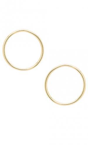 Front hoop earrings joolz by Martha Calvo. Цвет: металлический золотой
