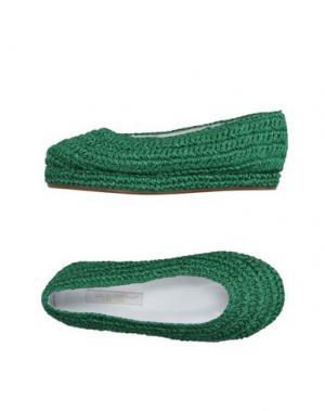 Балетки DOLCE & GABBANA. Цвет: изумрудно-зеленый