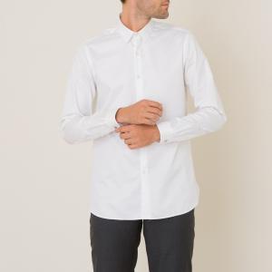 Рубашка из хлопкового твила THE KOOPLES. Цвет: белый