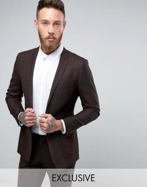 Number Eight Savile Row Пиджак зауженного кроя. Цвет: коричневый