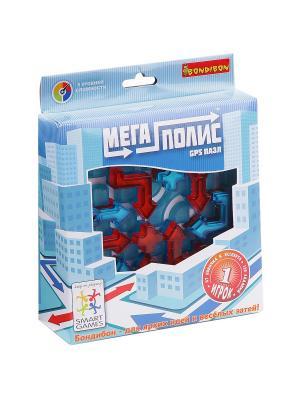 Логическая игра Bondibon Мегаполис-GPS пазл, арт. SG 470 RU.. Цвет: голубой