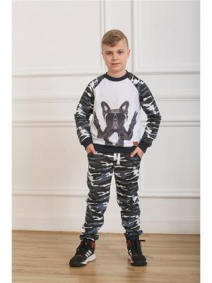 Спортивный костюм LFC. Цвет: серый,темно-серый,белый