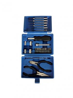 Набор инструментов  из 26 предметов в пластиковом кейсе Stinger. Цвет: черный, синий, серебристый