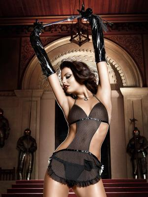 Перчатки Baci Lingerie. Цвет: черный