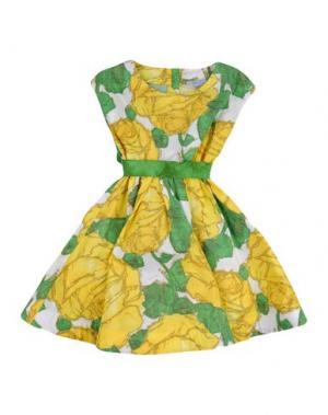 Платье MIMISOL. Цвет: желтый