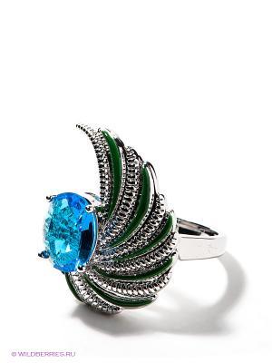 Кольцо Lovely Jewelry. Цвет: серебристый, синий, зеленый