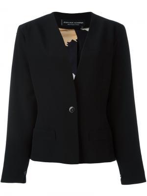 Пиджак на одну пуговицу Jean Louis Scherrer Vintage. Цвет: чёрный