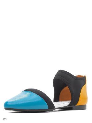 Туфли UNITED NUDE. Цвет: синий, оранжевый, черный
