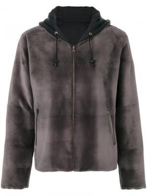 Пальто на молнии Liska. Цвет: серый