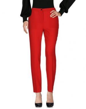 Повседневные брюки PICCIONE•PICCIONE. Цвет: красный