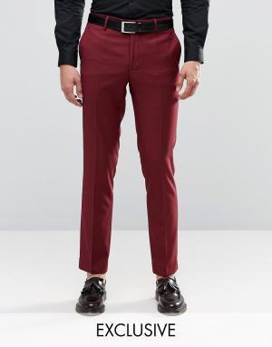 Farah Бордовые брюки скинни. Цвет: синий