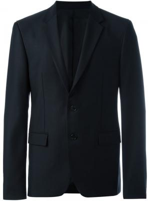 Строгий пиджак узкого кроя Wooyoungmi. Цвет: синий