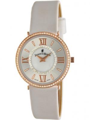 Часы Jacques du Manoir. Цвет: розовый