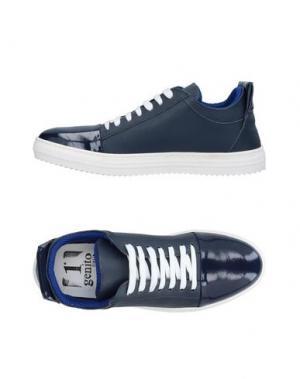 Низкие кеды и кроссовки 1° GENITO. Цвет: темно-синий