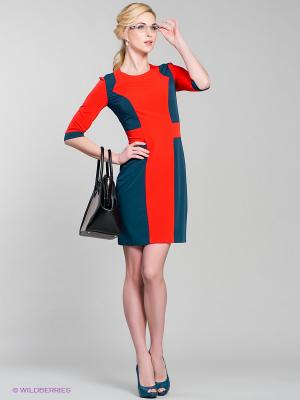 Платье Stets. Цвет: красный, морская волна