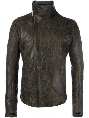 Куртка с воротником-стойкой Isaac Sellam Experience. Цвет: зелёный