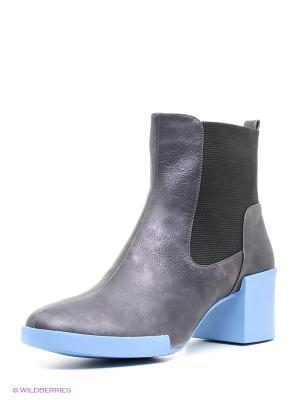 Ботинки INARIO. Цвет: серый, голубой