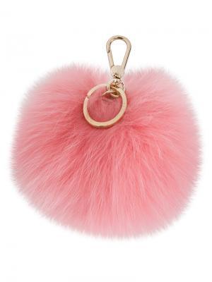 Брелок Bubble с помпоном Furla. Цвет: розовый и фиолетовый