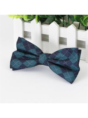 Галстук-бабочка Churchill accessories. Цвет: темно-синий, зеленый, синий
