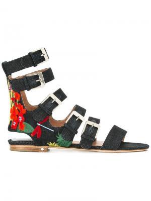 Джинсовые сандалии Nina Laurence Dacade. Цвет: синий