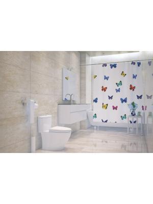 Штора д/ванн 180х200 Papillons (шт.) Bacchetta. Цвет: белый