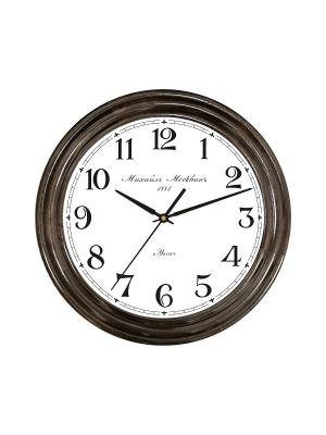 Часы настенные Михаилъ Москвинъ. Цвет: коричневый