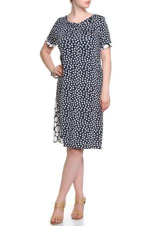 Платье ROSANNA PELLEGRINI. Цвет: темно-синий