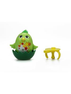 Цыпленок с кольцом Fluff, зеленый Silverlit. Цвет: зеленый