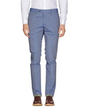Повседневные брюки PAOLONI. Цвет: синий
