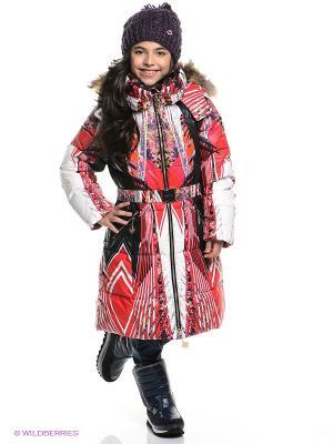 Пальто MES AMI. Цвет: красный, белый, черный