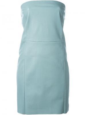 Платье без бретелек Drome. Цвет: зелёный
