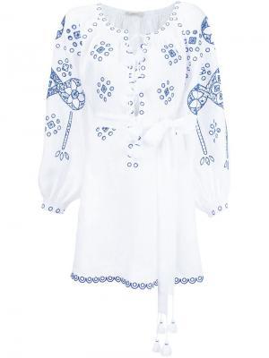 Платье с вышивкой Vita Kin. Цвет: белый