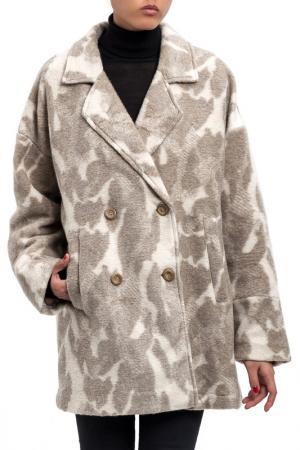 Пальто DIBYE. Цвет: бежевый