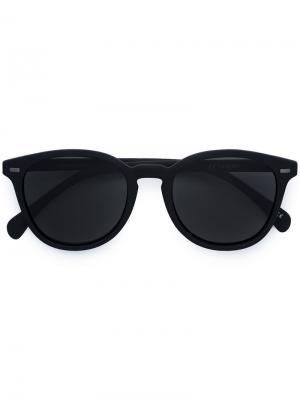 Солнцезащитные очки в округлой оправе Le Specs. Цвет: чёрный