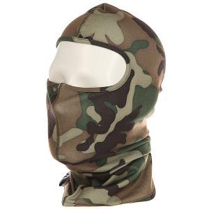 Балаклава  Ninja Face Camouflage Airblaster. Цвет: черный,коричневый,зеленый