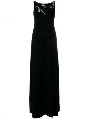 Декорированное длинное платье Boutique Moschino. Цвет: чёрный