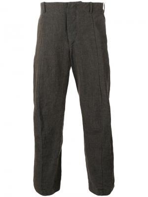 Укороченные брюки Forme Dexpression D'expression. Цвет: коричневый