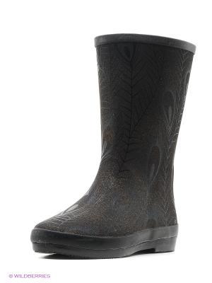 Резиновые сапоги KEDDO. Цвет: бронзовый, черный