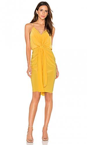 Платье миди domino MISA Los Angeles. Цвет: желтый