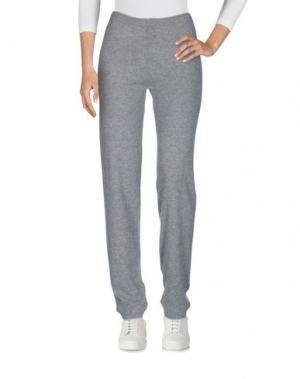 Повседневные брюки NOT SHY. Цвет: серый
