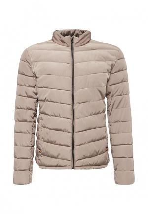 Куртка утепленная Deblasio. Цвет: бежевый