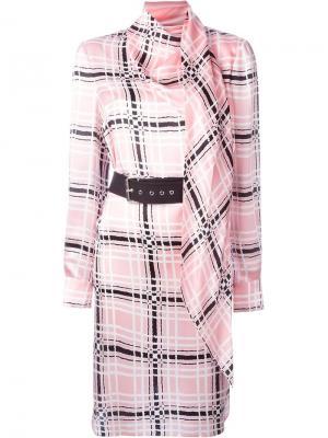 Платье с поясом Emanuel Ungaro. Цвет: розовый и фиолетовый