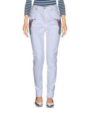 Джинсовые брюки SANDRINE ROSE. Цвет: белый
