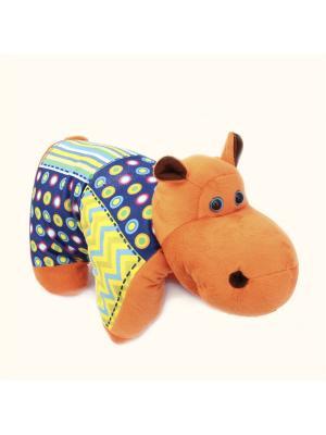 Мягкая игрушка Лежебок Бегемот 22.33.1 цвет коричневый Malvina. Цвет: коричневый