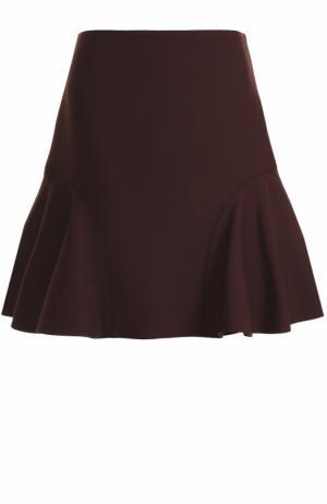 Мини-юбка с оборками Victoria by Beckham. Цвет: бордовый