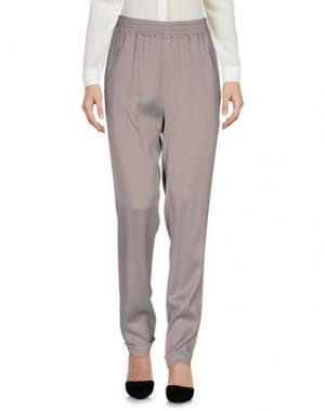 Повседневные брюки ROBERTO COLLINA. Цвет: голубиный серый