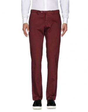 Повседневные брюки SARTORIA LATORRE. Цвет: красно-коричневый